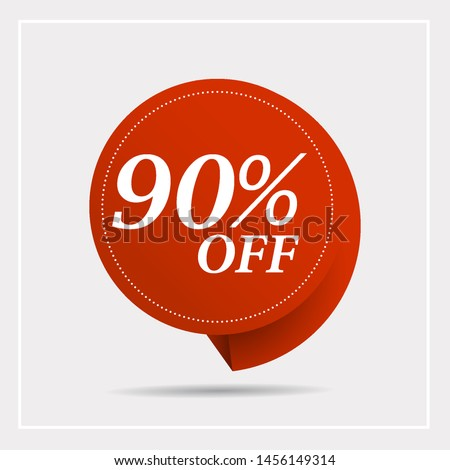 Discount with the price is 90% . This is the concept of the price list for discounts, of an advertising campaign, advertising marketing sales,