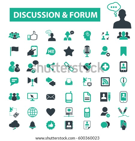 discussion forum icons