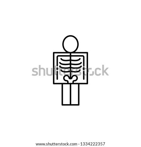 Diseases, patient, roentgen vector. Muscle aches, cold and bronchitis, pneumonia and fever, health medical illustration - Vector
