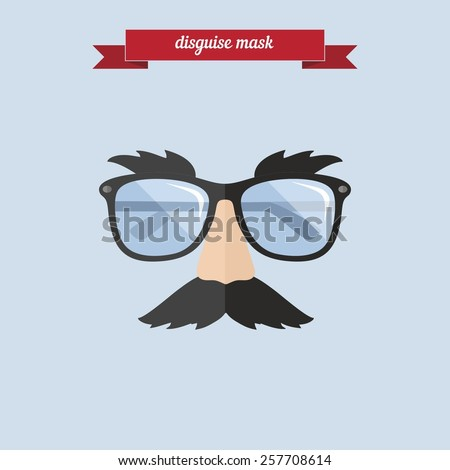 disguise mask flat style