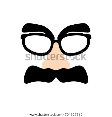 78988bff1787 Royalty-free Funny disguise mask with glasses