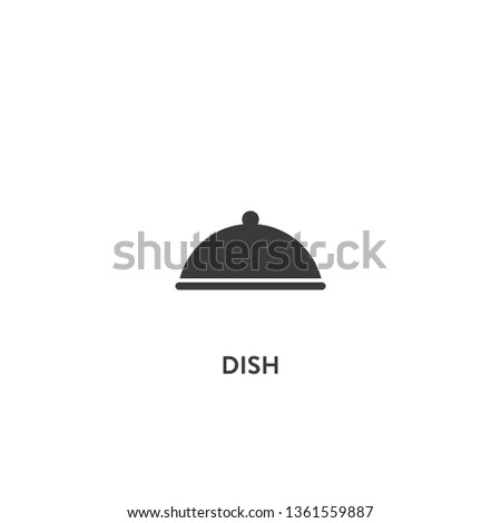 dish icon vector. dish sign on white background. dish icon for web and app