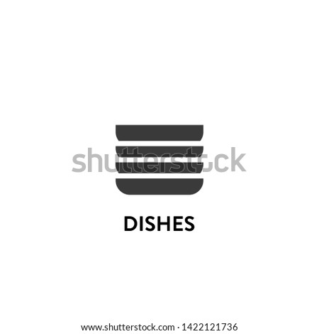dishes icon vector. dishes vector graphic illustration