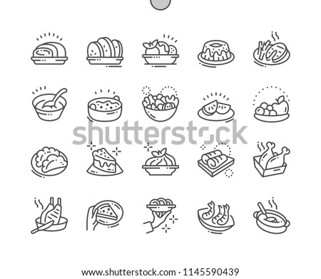 Dishes Well-crafted Pixel Perfect Vector Thin Line Icons 30 2x Grid for Web Graphics and Apps. Simple Minimal Pictogram
