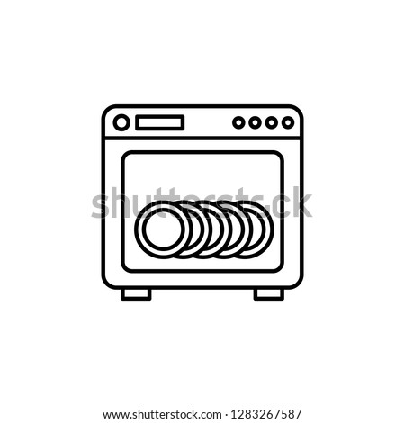 dishware cleaning device icon. Element of kitchen utensils icon for mobile concept and web apps. Detailed dishware cleaning device icon can be used for web and mobile