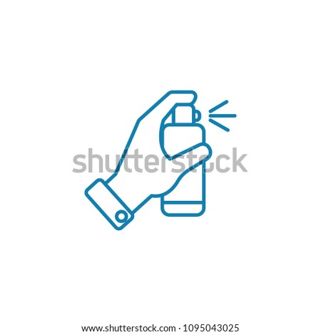 Disinfectants linear icon concept. Disinfectants line vector sign, symbol, illustration.