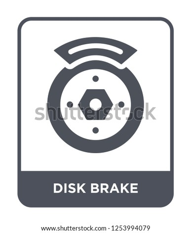disk brake icon vector on white background, disk brake trendy filled icons from General collection