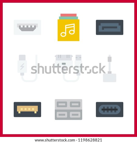 disk icon. usb and sata vector icons in disk set. Use this illustration for disk works.