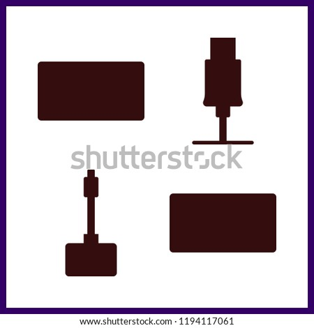 disk icon. usb vector icons in disk set. Use this illustration for disk works.