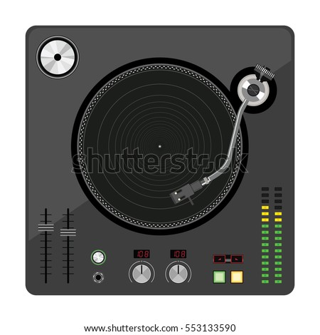disk jockey turntable old