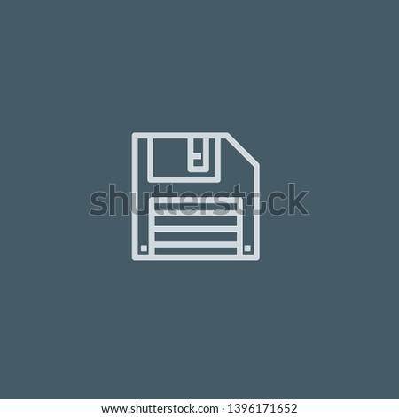 Disk vector icon. Disk concept stroke symbol design. Thin graphic elements vector illustration, outline pattern for your web site design, logo, UI. EPS 10.
