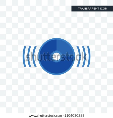 disk vector icon isolated on transparent background, disk logo concept
