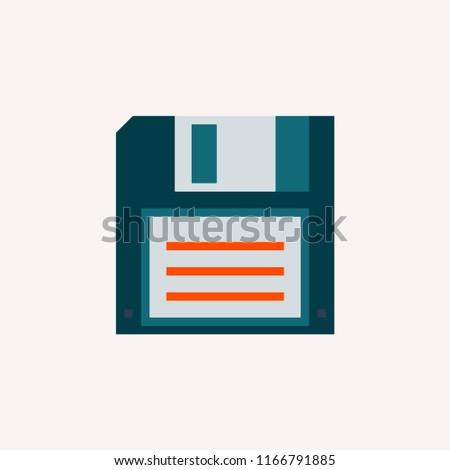 Diskette  Computer Disk Retro 90s modern vector style