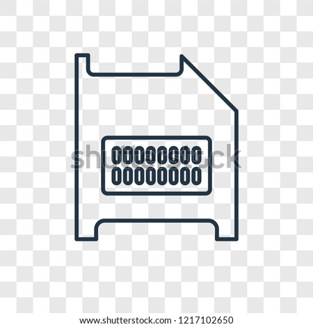 Diskette concept vector linear icon isolated on transparent background, Diskette concept transparency concept in outline style