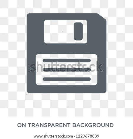 Diskette icon. Diskette design concept from Communication collection. Simple element vector illustration on transparent background.