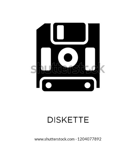 Diskette icon. Diskette symbol design from Communication collection. Simple element vector illustration on white background.