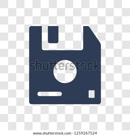 Diskette icon. Trendy Diskette logo concept on transparent background from Communication collection
