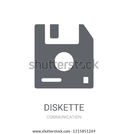 Diskette icon. Trendy Diskette logo concept on white background from Communication collection. Suitable for use on web apps, mobile apps and print media.