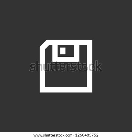 diskette icon vector. diskette sign on black background. diskette icon for web and app