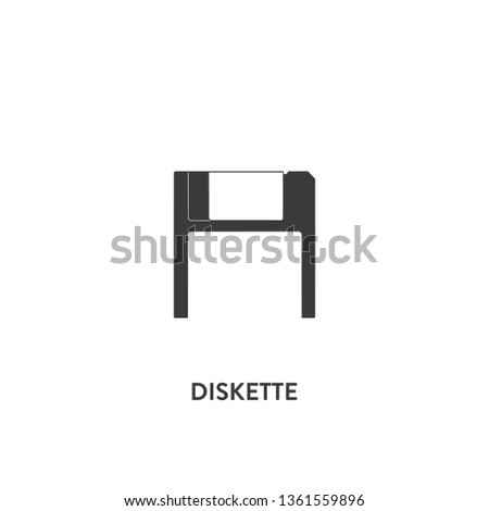 diskette icon vector. diskette sign on white background. diskette icon for web and app