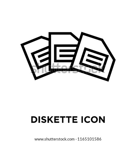 Diskette icon vector isolated on white background, Diskette transparent sign