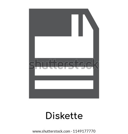 Diskette icon vector isolated on white background for your web and mobile app design, Diskette logo concept