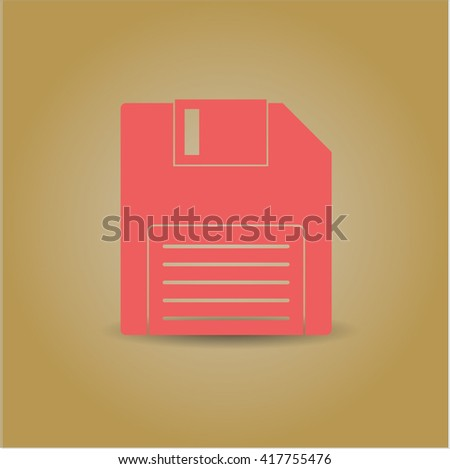 diskette icon vector symbol flat eps jpg app web concept website