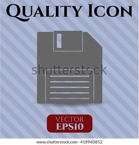 diskette icon vector symbol flat eps jpg app web concept website
