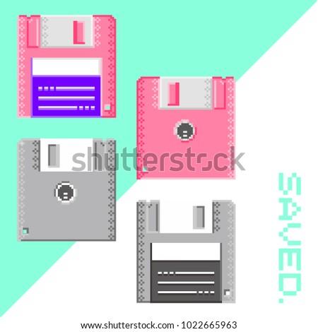 Diskette pixel art
