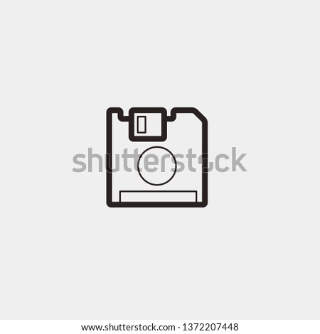 Diskette Save Device vector icon. Diskette Save Device concept stroke symbol design. Thin graphic elements vector illustration, outline pattern for your web site design, logo, UI. EPS 10.