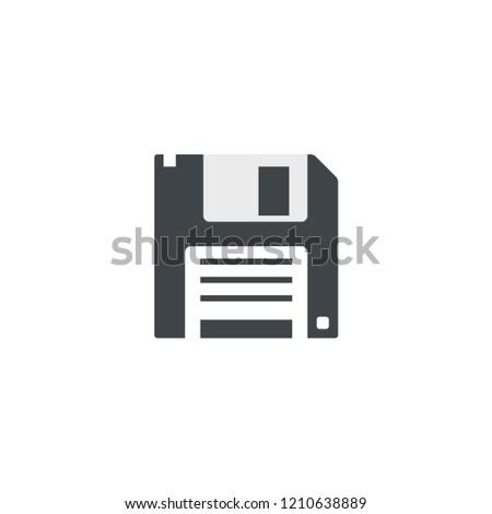 diskette simple icon