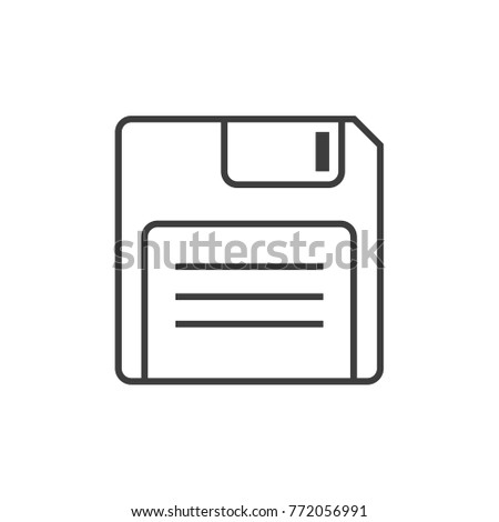 diskette vector, diskette isolated vector
