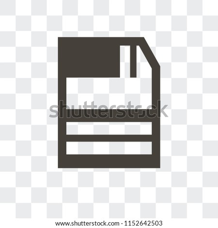 Diskette vector icon isolated on transparent background, Diskette logo concept