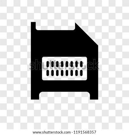 Diskette vector icon isolated on transparent background, Diskette transparency logo concept