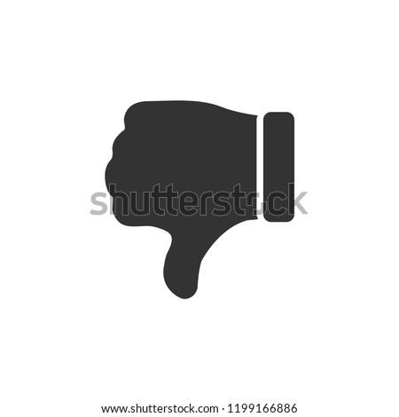 Dislike, Hand Thumb Down. Icon Flat