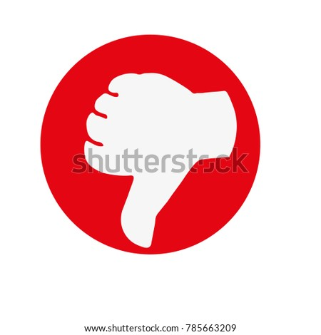 dislike icons set. Modern graphic elements for web banners, web sites, printed materials, infographics. Vector round thin line icons isolated on white background.