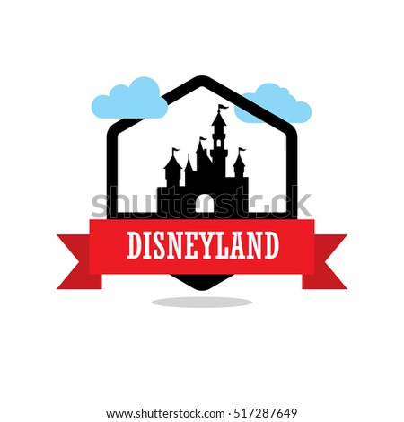 disneyland ribbon banner with