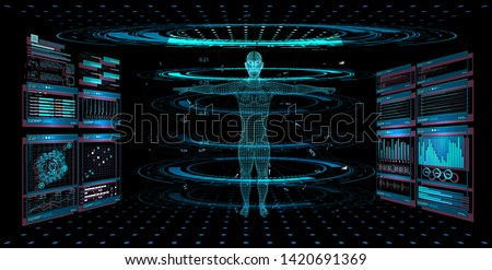 display set of virtual