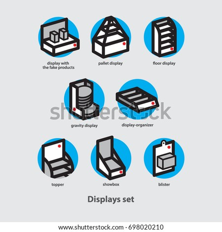 Displays set _Point of sales material