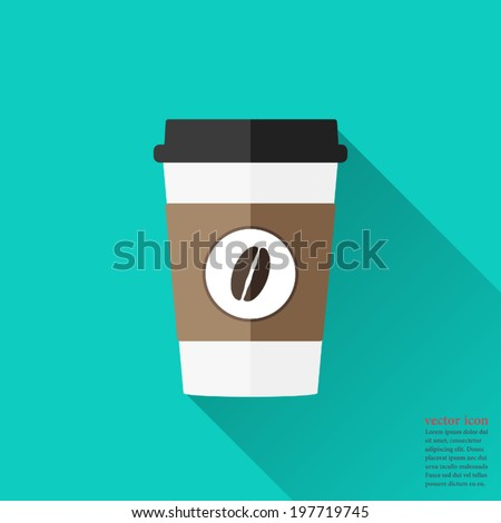 disposable coffee cup icon with