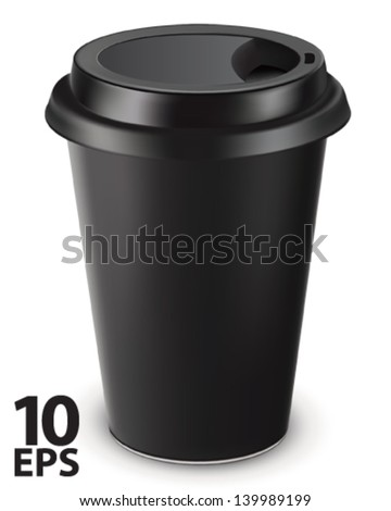 disposable coffee cup isolated