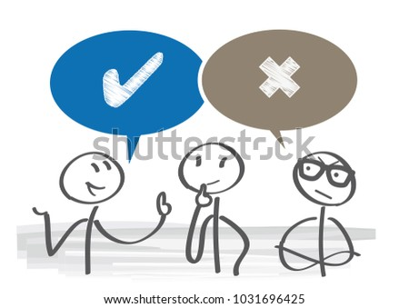 dispute of Pros and Cons with speech bubble vector illustration