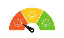 Dissatisfied customer icon. Clipart image isolated on white background.