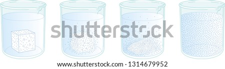 Dissolution of sugar in water Сток-фото ©