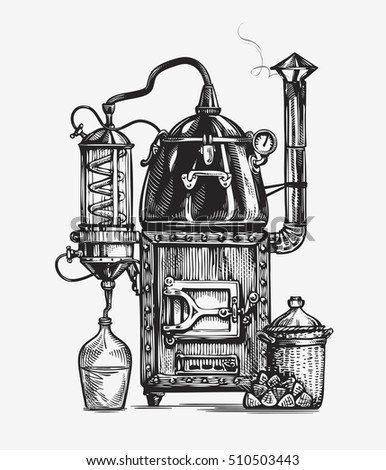 distillation apparatus sketch....
