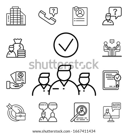 Distinguished employee icon. Detailed set of interview icons. Premium quality graphic design. One of the collection icons for websites, web design, mobile app Foto d'archivio ©
