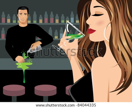 distracted bartender a