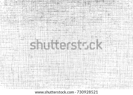 Distress thread used texture. Grunge rough dirty background. Shabby black cotton cover. Overlay aged grainy messy template. Cloth linen sack backdrop. Empty aging design element. EPS10 vector.