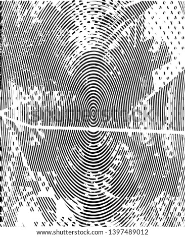 Distressed background in black and white texture with dots, spots, scratches and lines. Abstract vector illustration #1397489012