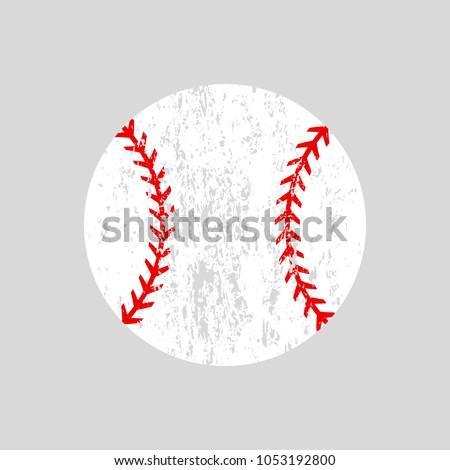 distressed baseball ball